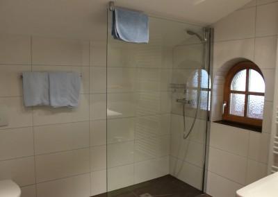 0505 Dusche Glaswand