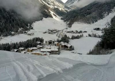 Niederthai Winter von der Piste oben